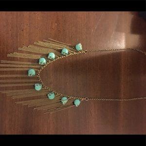Skull fringe necklace